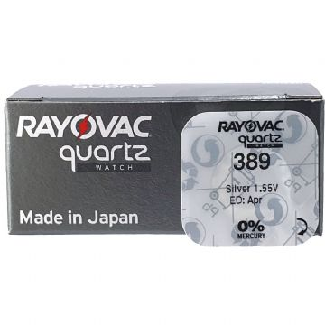 Rayovac 389 SR1130W 1.5V Silver Oxide Watch Battery